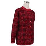 Gn1534ヤクおよびウールによって混ぜられる女性の編まれたセーター