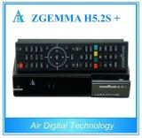 HDTV van de Kanalen van Europa Doos Wereldwijd Zgemma H5.2s plus Multistream Dubbele Kern Hevc/H. 265 Drievoudige Tuners dvb-s2+dvb-S2X/T2/C