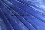 Breve tessuto molle eccellente del velluto della peluche nel colore dell'azzurro reale