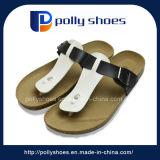 Caduta di vibrazione del sandalo della trasparenza dei due dell'inarcamento delle cinghie delle tomaie Mens del sughero