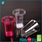 Tumbler чашки партии PS ясной/прозрачной пластмассы цвета устранимый