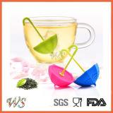 Setaccio del foglio di Infuser del tè dell'ombrello del silicone del commestibile Ws-If064 per la tazza della tazza, POT del tè