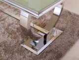 Tavolino da salotto moderno del metallo Sj890 con la parte superiore di vetro