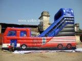 Mejor Comercial de diapositivas de agua inflable hinchable en autobús