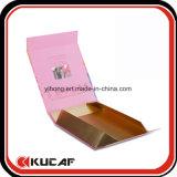 Изготовленный на заказ складная бумажная косметическая упаковывая коробка с пластичным подносом