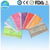 Maschera di protezione non tessuta 1/2/3ply, con il CE dei legami o dell'elastico diplomato