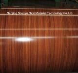 Teste padrão de madeira bobina de aço galvanizada Prepainted