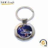 Boucle principale en métal fait sur commande promotionnel le meilleur marché avec le logo époxy