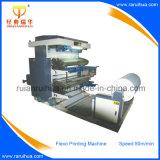 Máquina de impressão de papel Flexo de alta velocidade de 4 cores com controle PLC