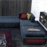 Sala de estar com design moderno mobiliário sofá de tecido (G7607B)
