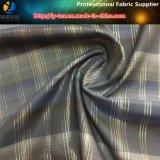 Poliéster hilado teñido Comprobar la tela con la seda de oro y calandrado (YD1171)