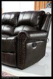 Sofà sezionale del cuoio dell'aria con il sofà adagiantesi e Loveseat del rivestimento di sinistra del braccio
