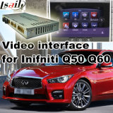 Video interfaccia dell'automobile per 2015 o Infiniti successivo Q50 e Q60, parte posteriore Android di percorso e panorama 360 facoltativi