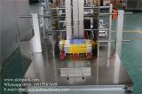 자동적인 스티커에 의하여 지퍼로 잠기는 부대 레테르를 붙이는 기계