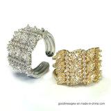 925 anelli d'argento unici con Circonia (R10677)