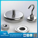 Forte magnete del POT del neodimio di NdFeB della forza di tiro/magnete della tazza con i fori svasati, viti, ami