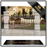 Pó decorativo exterior cerca de alumínio revestida do jardim do metal do molde