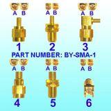 Conetor do adaptador do RF (macho de BY-SMA ao macho de BNC)