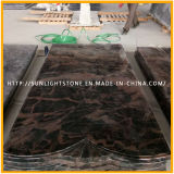 Custom India Aurora Granite Monuments / Headstone / Tombstone para estilo europeu