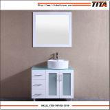 白いラッカーガラス虚栄心の上の浴室の虚栄心T9140-24W