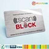 Custom 4~6 PC tarjeta de crédito y los datos del pasaporte scaner protector de la tarjeta de bloqueo de RFID