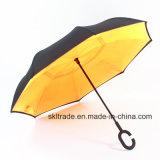 Зонтик чисто цветов портативный Handsfree прямой обратный перевернутый