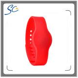 Wristband personalizzato del silicone di stampa NFC Ntag213 di marchio