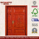 Portello di entrata disuguale di legno solido del doppio portello con la pittura (XS1-023)