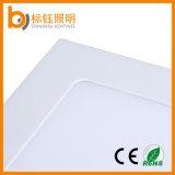 Blanco caliente suspendido cuadrado ultra delgado de la luz de techo de la lámpara del panel 6W LED