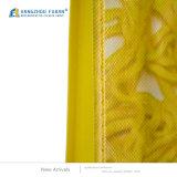 Sacchetto di acquisto pieghevole non tessuto materiale spesso di colore giallo