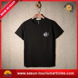 T-shirt fait sur commande de polo d'impression d'écran de coton pour les hommes du collet rond