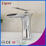 Fyeer Chrome Single Handle Waterfall Bathroom Robinet d'évier d'origine pour robinet d'eau