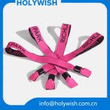 Farbband-Jacquardwebstuhl-HochzeitWristbands mit Druck-Firmenzeichen