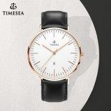 Japão Movt. O relógio de couro clássico dos homens de faixa do aço inoxidável, estilo magro de Dw presta atenção a 72644
