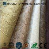 Tissu en cuir de sofa de PVC de modèle de mode