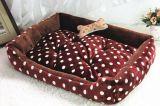 Base del animal doméstico de la tela de la franela de tres tallas para el perro