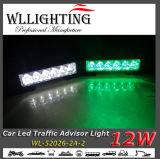Green White LED Traffic Advisor Veículo Flash Strobe Light Bar
