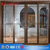 Porte coulissante horizontale en verre de profil en aluminium durable