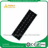 100watts 리튬 건전지를 가진 한세트 태양 LED 가로등