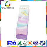 Caixa de papel cosmética de impressão Offset de Cmyk da benevolência para caráteres quentes da folha do frasco de creme
