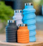 Het Drinken van de Sport van de Fles van het Water van het silicone Vouwbare Opvouwbare Fles