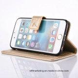 Бумажник кожаный чехол для мобильного телефона iPhone и Samsung