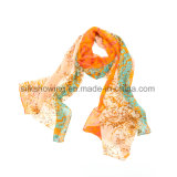 La conception personnalisée 170*53 Foulard en mousseline de soie personnalisé