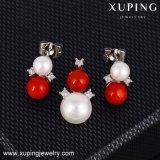 Insieme dei monili della perla delle coperture di modo di 64103 Xuping placcato con platino