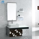 Стильный дизайн ПВХ покрытия ванная комната мебель Польши на стене висит Новая классическая мебель