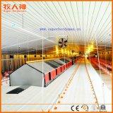 Azienda agricola di pollo con la tettoia automatica di controllo e della strumentazione