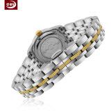 OEMのステンレス鋼の女性の水晶腕時計