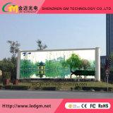 Visualización de LED para la publicidad comercial grande con diseño especial inferior del precio de fábrica