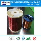 Fio esmaltado CCA de alumínio folheado de cobre do fio do diâmetro 0.10mm-5.00mm para o enrolamento do motor