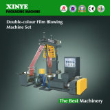 Máquina que sopla doble de la película de color